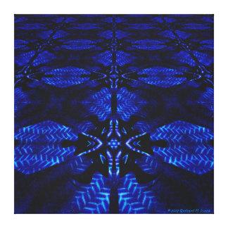 """Pythagarus Pool Perspective Mandala"" Canvas Print"
