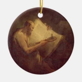 Pythagoras (6th century BC) (oil on canvas) Ceramic Ornament