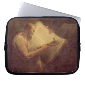 Pythagoras (6th century BC) (oil on canvas) Laptop Sleeves
