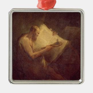 Pythagoras (6th century BC) (oil on canvas) Metal Ornament