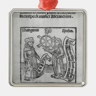 Pythagoras  and Music Metal Ornament