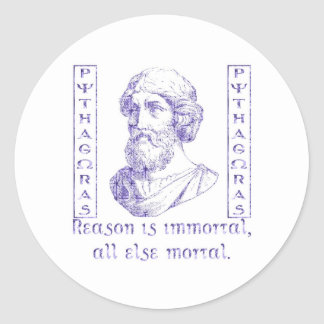 Pythagoras Classic Round Sticker