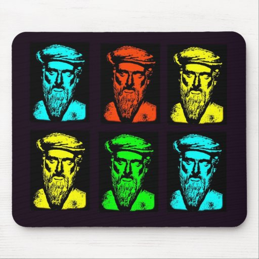 Pythagoras Collage Mouse Pad
