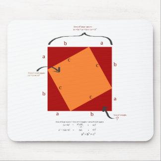 Pythagoras demonstration - math is beautiful. mouse pad