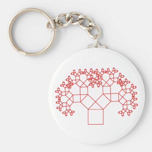 Pythagoras tree tree keychains