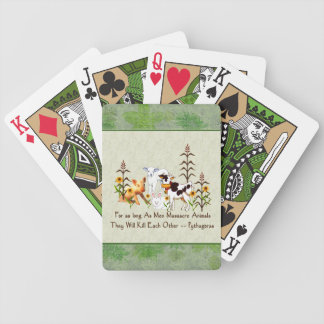 Pythagoras Vegetarian quote Bicycle Playing Cards