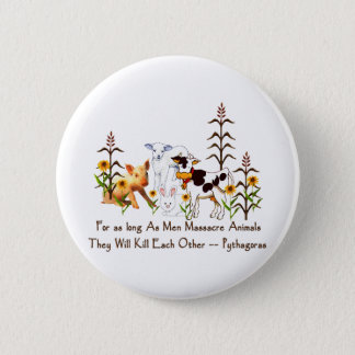 Pythagoras Vegetarian quote Button