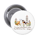 Pythagoras Vegetarian quote Buttons