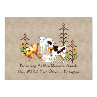 Pythagoras Vegetarian quote Card