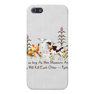 Pythagoras Vegetarian quote Cases For iPhone 5