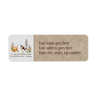 Pythagoras Vegetarian quote Label