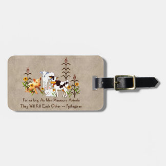 Pythagoras Vegetarian Quote Tag For Bags
