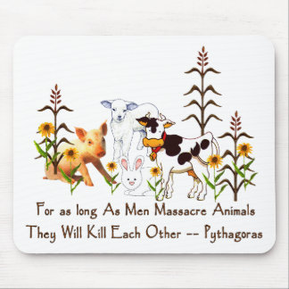Pythagoras Vegetarian quote Mouse Pad
