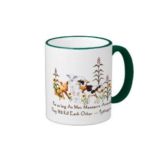 Pythagoras Vegetarian quote Ringer Coffee Mug