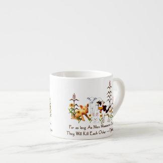 Pythagoras Vegetarian Quote 6 Oz Ceramic Espresso Cup