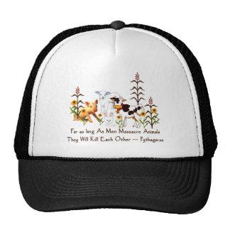 Pythagoras Vegetarian quote Trucker Hat