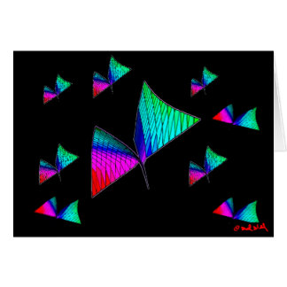 Pythagorean Butterfly Greeting Card