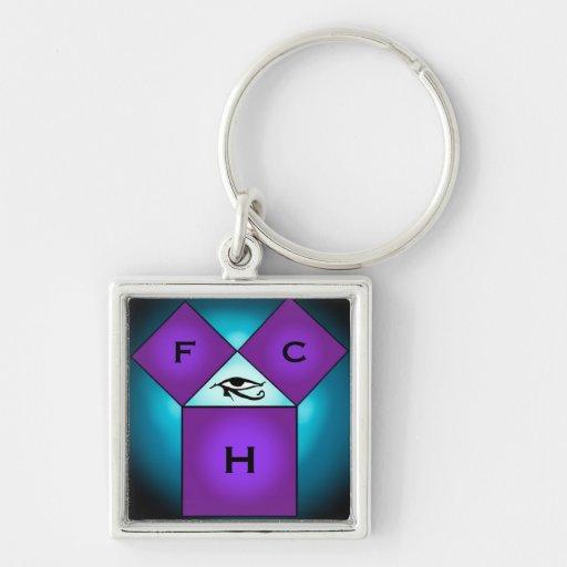 Pythagorean Mason Key Chain