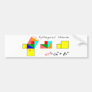 Pythagorean theorem bumper sticker