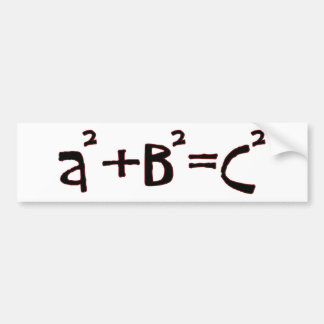 Pythagorean Theorem Bumper Sticker