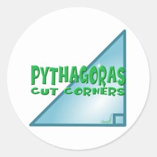 Pythagorean Theorem Classic Round Sticker