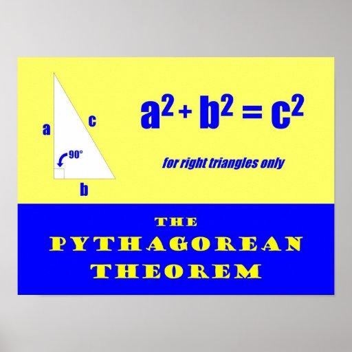 Pythagorean Theorem Poster