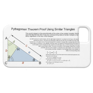 Pythagorean Theorem Proof Using Similar Triangles iPhone 5 Cases