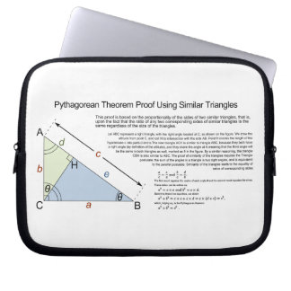 Pythagorean Theorem Proof Using Similar Triangles Computer Sleeve