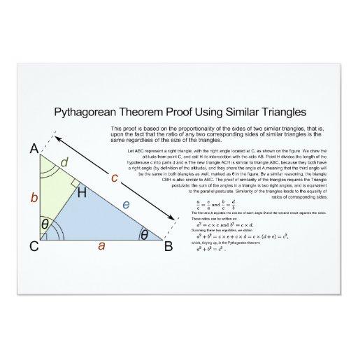 Pythagorean Theorem Proof Using Similar Triangles Custom Invitations