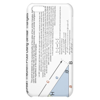 Pythagorean Theorem Proof Using Similar Triangles Cover For iPhone 5C