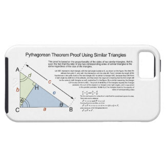Pythagorean Theorem Proof Using Similar Triangles iPhone SE/5/5s Case