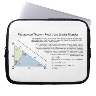 Pythagorean Theorem Proof Using Similar Triangles Laptop Sleeve