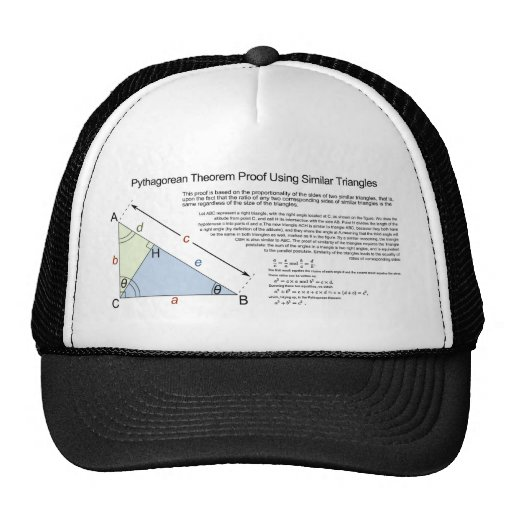 Pythagorean Theorem Proof Using Similar Triangles Trucker Hat