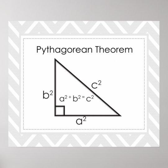 Pythagorean Theorem Updated Poster Zazzle Com