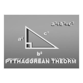 Pythagorean Therom Poster