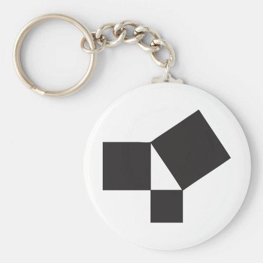pythagorian thoerem key chain