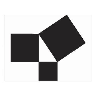pythagorian thoerem postcard