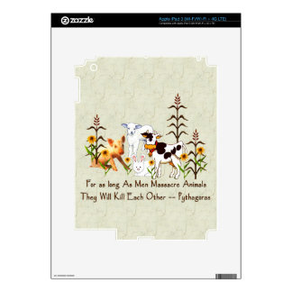 Pythagorus Vegetarian Quote Decals For iPad 3