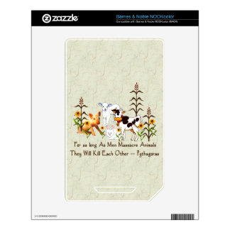 Pythagorus Vegetarian Quote Skin For The NOOK Color