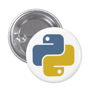Python Badge Pinback Button
