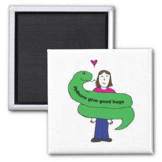 Python Hugs Magnet