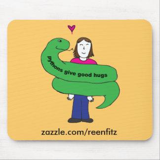 Python Hugs Mousepad