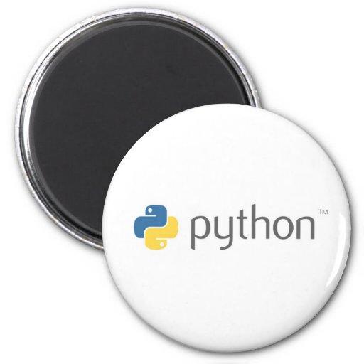 Python programming language fridge magnet zazzle