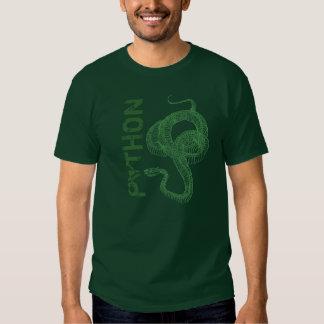Python skeleton, coiled snake ready to strike t shirt