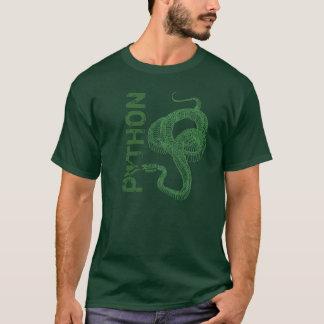 Python skeleton, coiled snake ready to strike T-Shirt