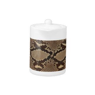 Python skin teapot
