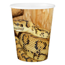 Python snake paper cup