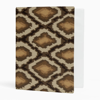 Python snake skin pattern 2 mini binder