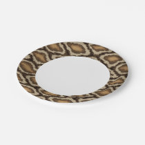Python snake skin pattern 2 paper plate