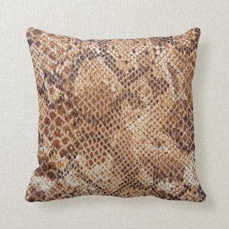 Python Snake Skin Print Throw Pillow